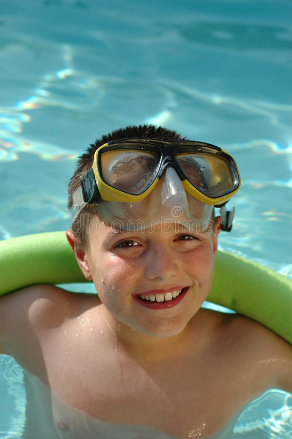 Summer fun in the pool royalty free stock photography