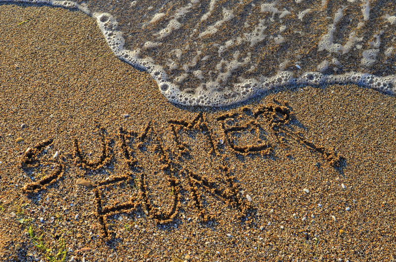 Summer fun by the seashore royalty free stock photography