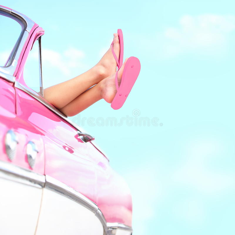 Free Summer Fun Vintage Car Stock Photos - 24186113