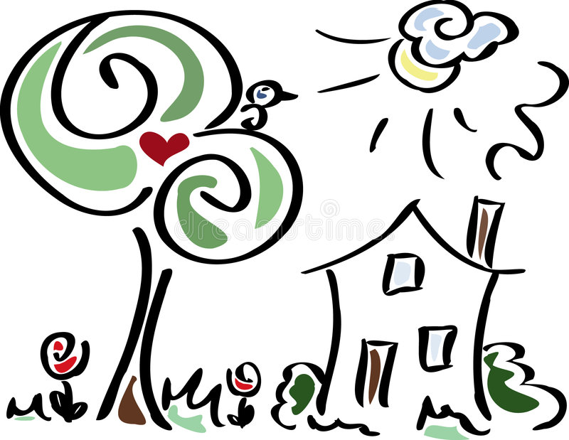 Summer garden stock illustration