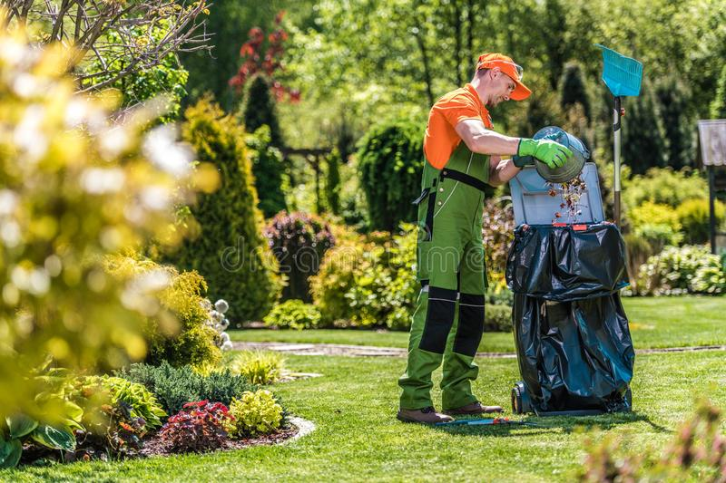 Summer Garden Maintenance stock photography