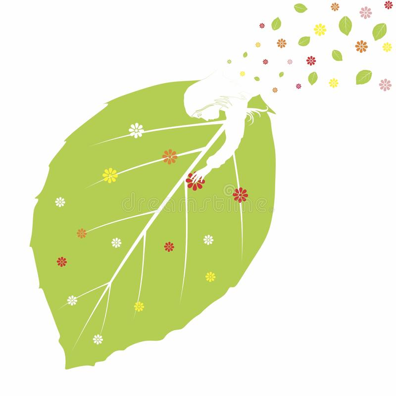 Summer. Generous summer brings foliage and flowers. Vector format