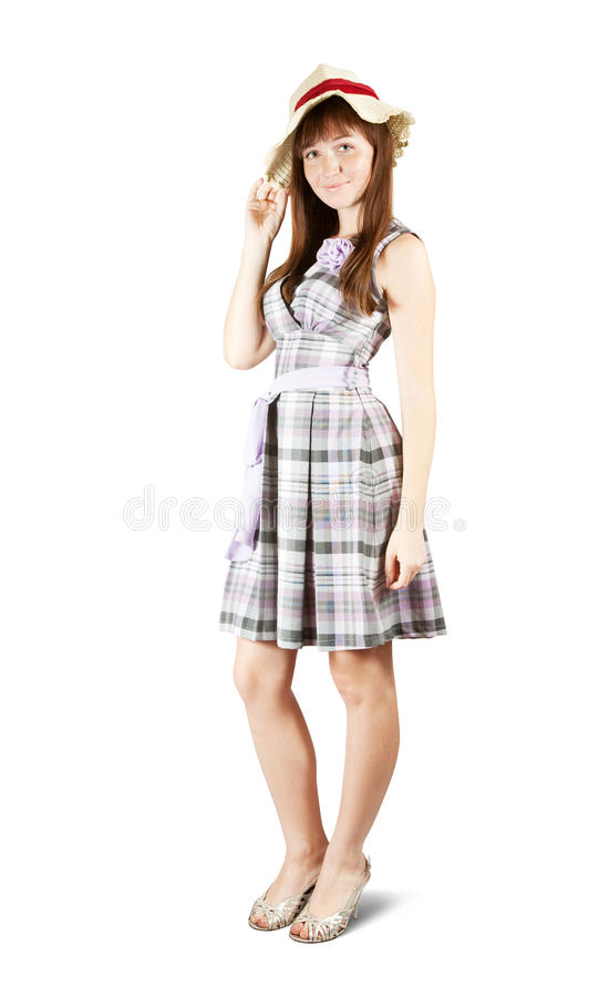 Download Summer girl stock image. Image of checked, portrait, caucasian - 14862241