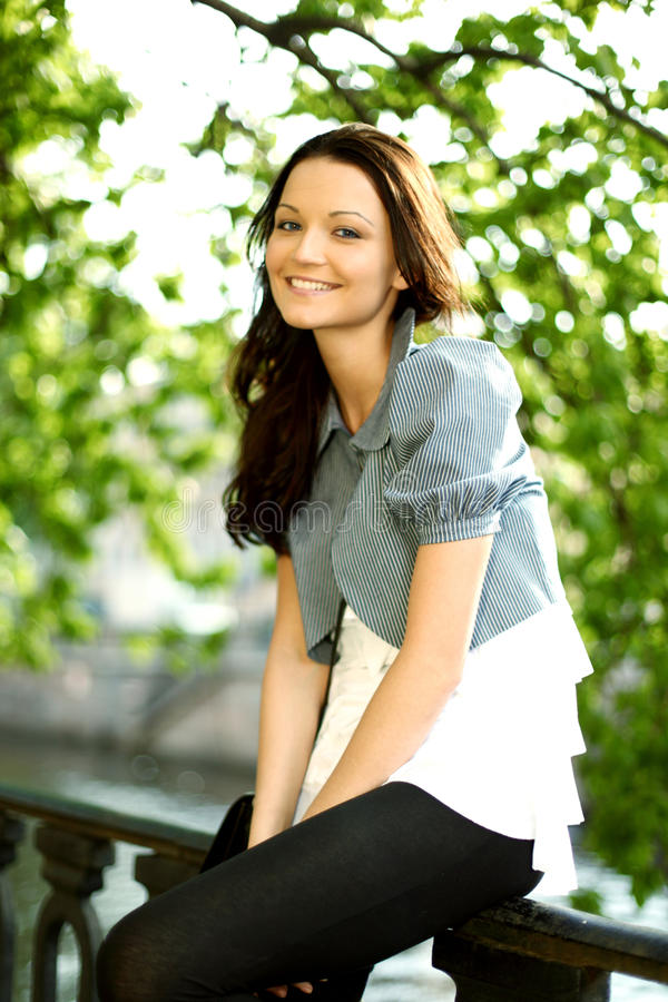 Download Summer girl stock image. Image of portrait, nature, blue - 20624645