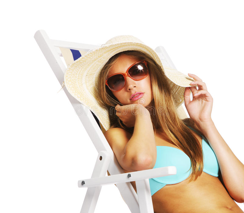 Download Summer girl stock image. Image of elegance, relaxation - 25501577