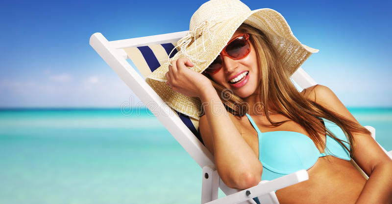 Download Summer girl stock photo. Image of straw, summer, comfortable - 25501660