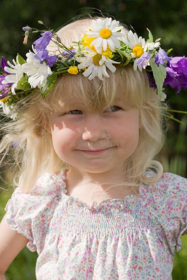 Download Summer girl stock image. Image of green, girl, grey, diadem - 6241273