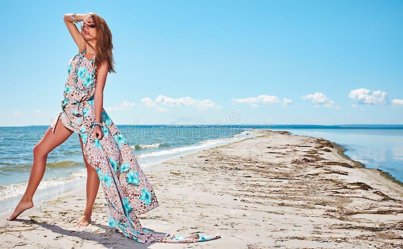 Summer girl. Beautiful summer girl on beach stock photo