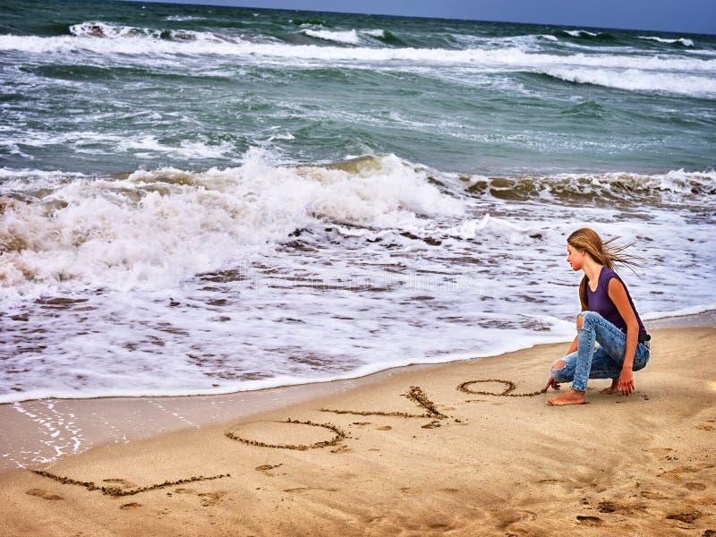 Summer girl sea look on water stock photography