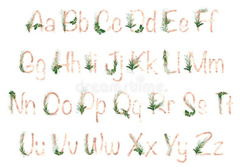 Summer gold alphabet letters stock image