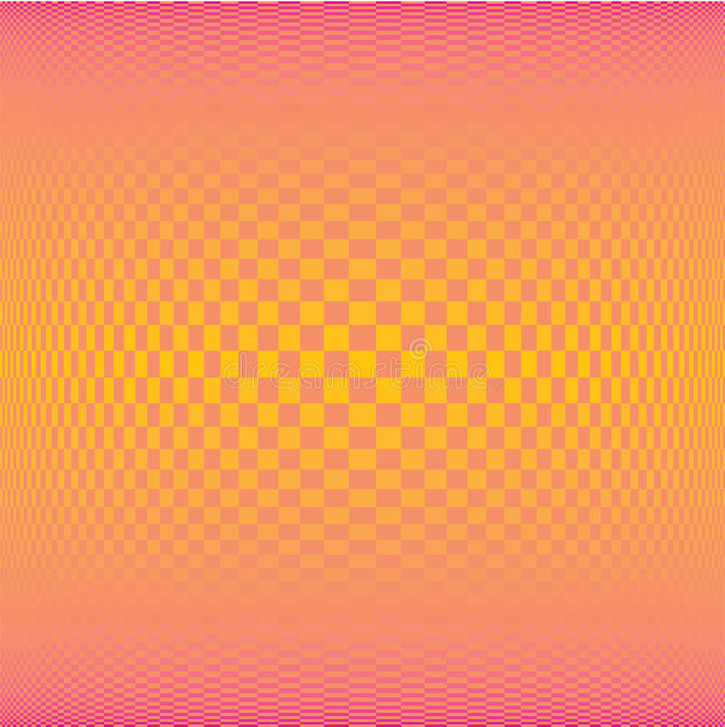 Summer gradient orange square polygon pattern background (vector) vector illustration