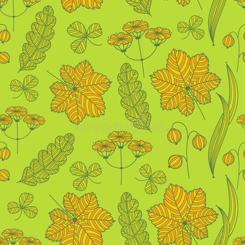 Summer grass pattern stock illustration