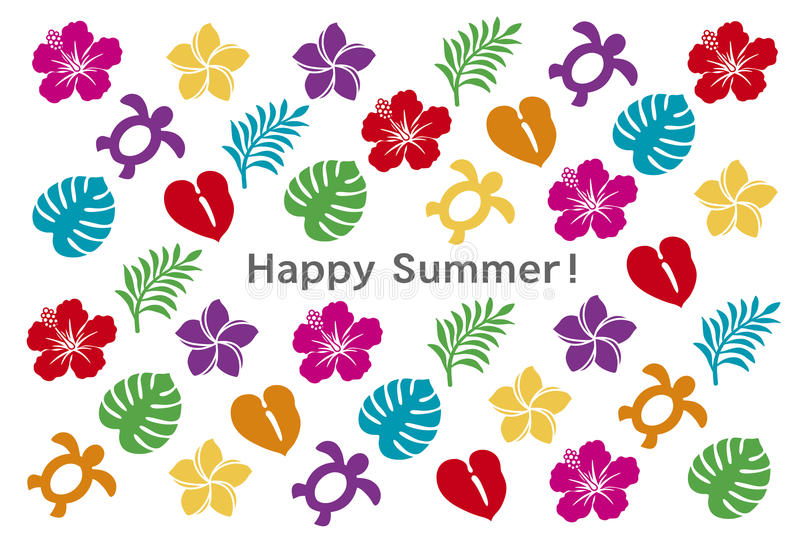 Download Summer greeting card stock vector. Image of paradise - 31888750