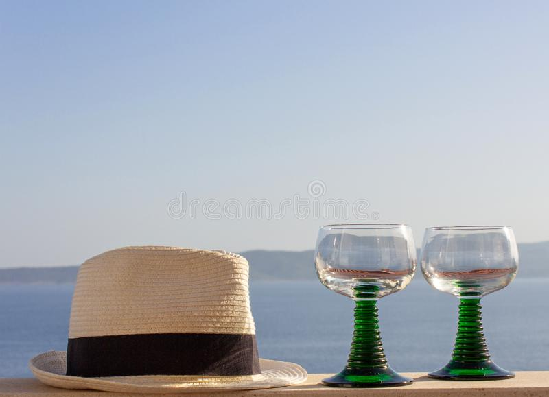 Summer holiday attributes royalty free stock photos
