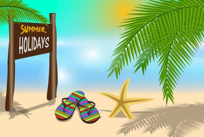 Summer Holiday background stock illustration