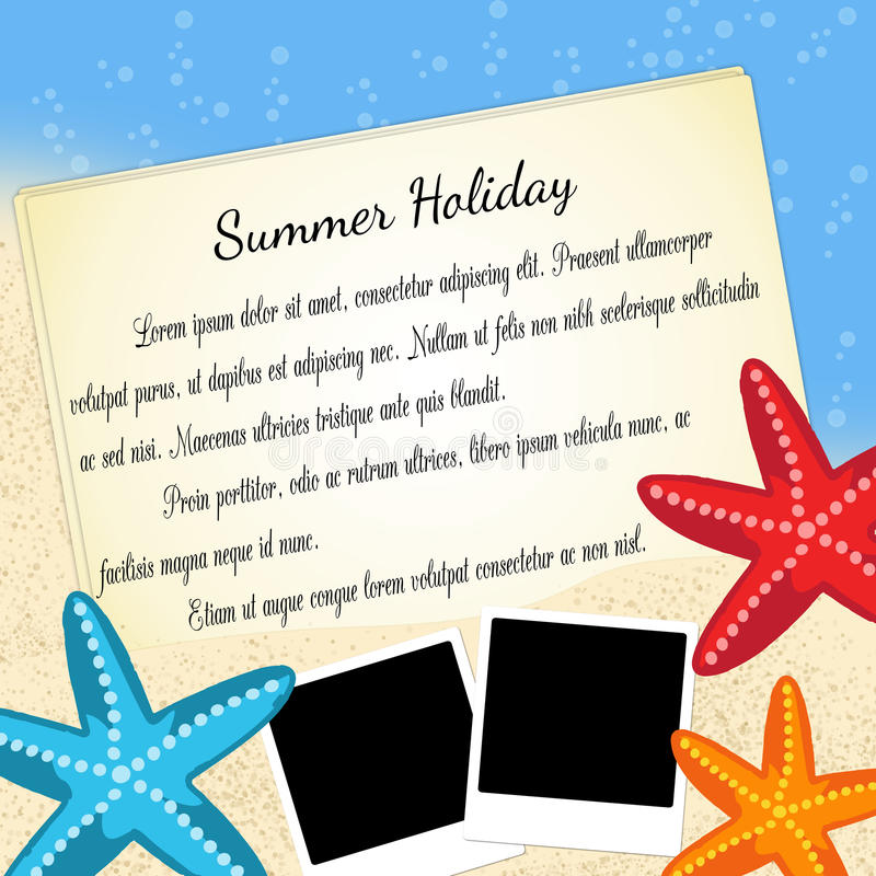Summer holiday background vector illustration