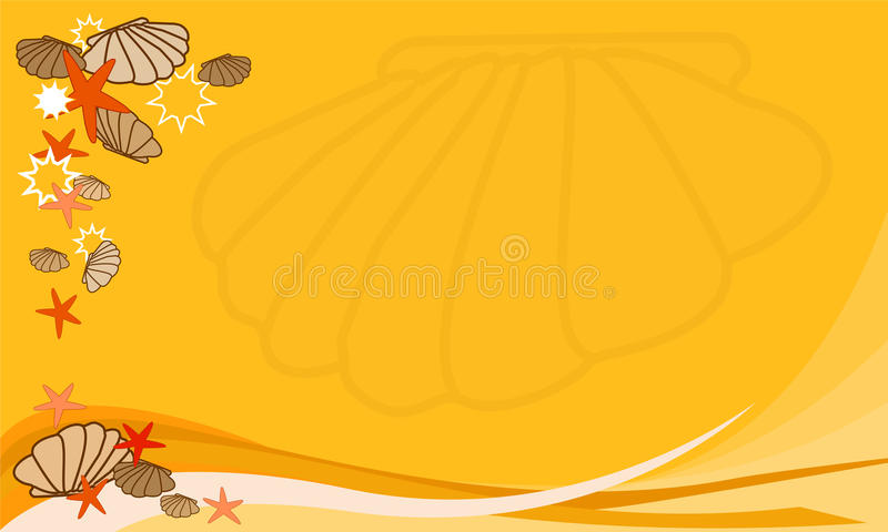 Summer, holiday background stock illustration