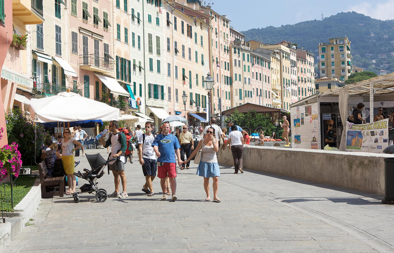 Download Summer holiday in Camogli editorial photography. Image of italian - 20763247