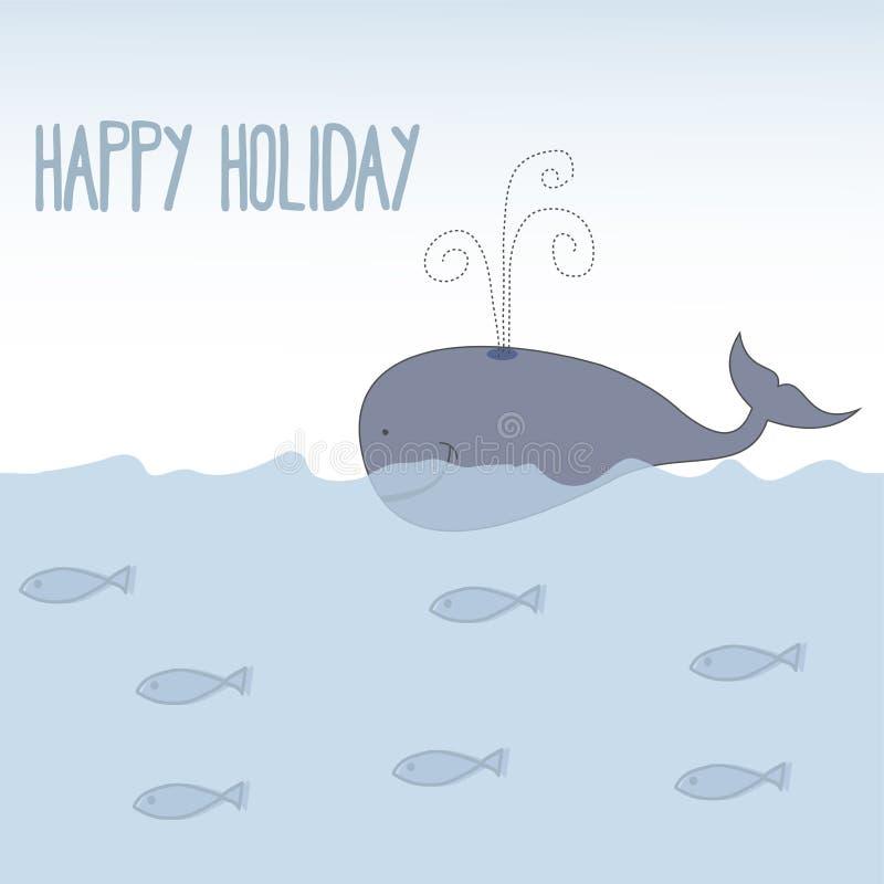 Summer holiday childish banner. Vector vector illustration