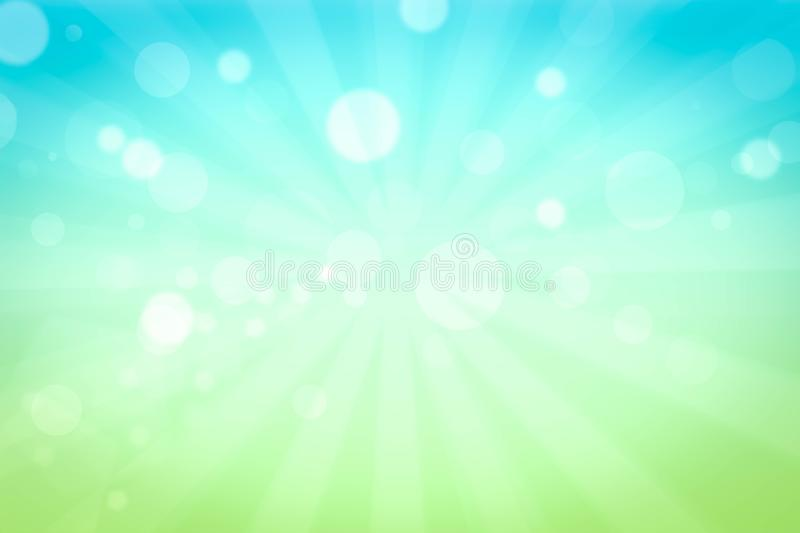 Summer holiday concept: Morning sunlight with abstract blurry bright yellow sky background stock illustration