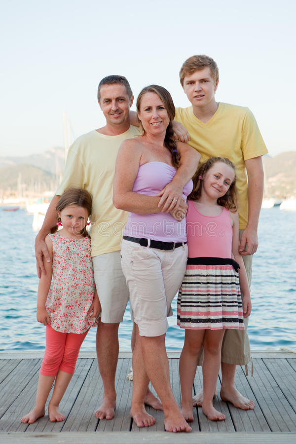 Summer holiday family royalty free stock image
