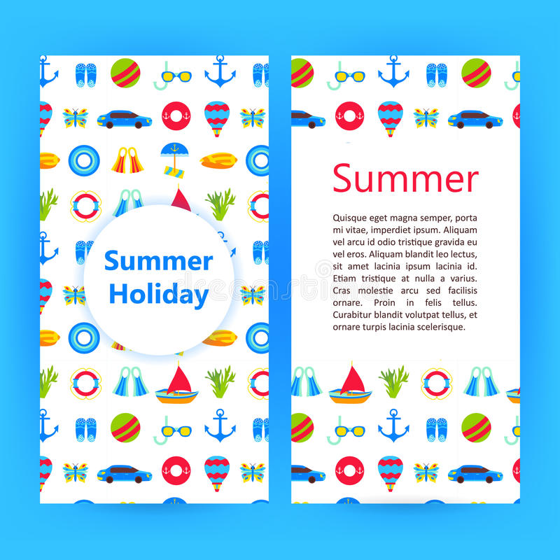 Summer Holiday Flyer Brochure Template Stock Vector Illustration