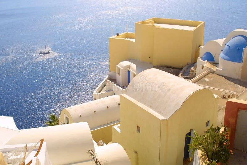 Summer holiday in greece stock photos