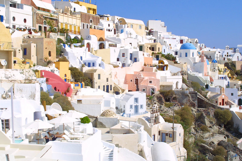 Download Summer holiday in greece stock photo. Image of windows - 1296588