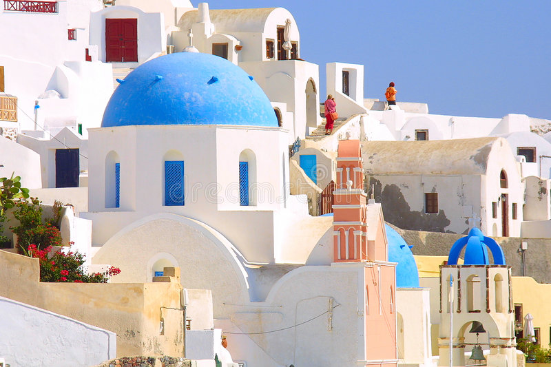 Download Summer holiday in greece stock image. Image of house, water - 1296589