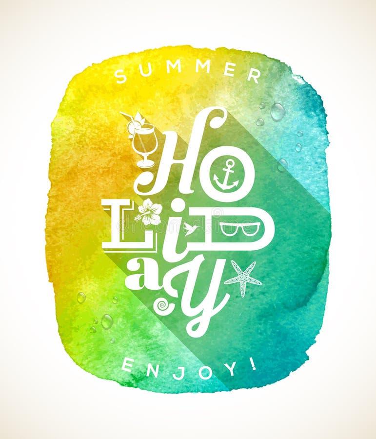 Summer Holiday Greeting Royalty Free Stock Photography