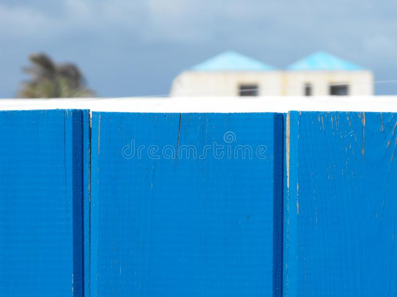Summer holiday house blue background stock image