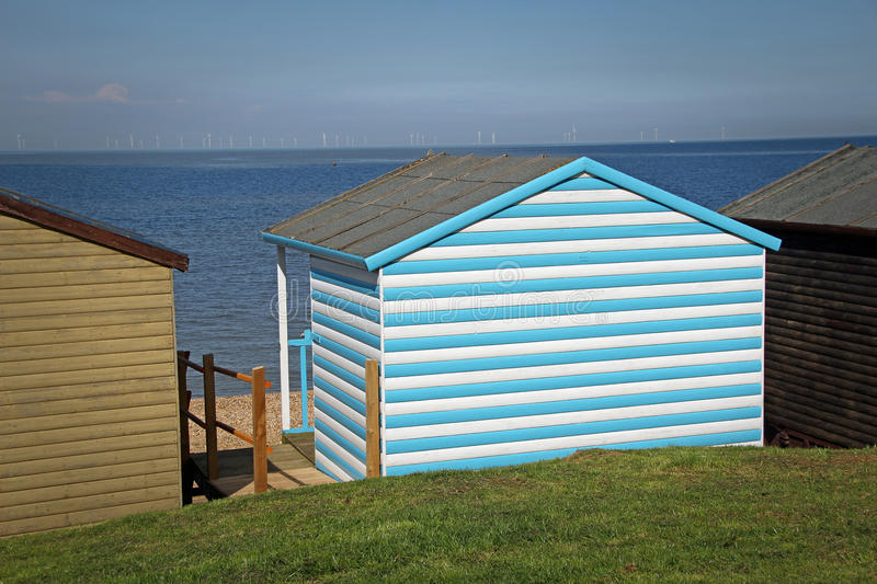 Summer holiday huts royalty free stock photography