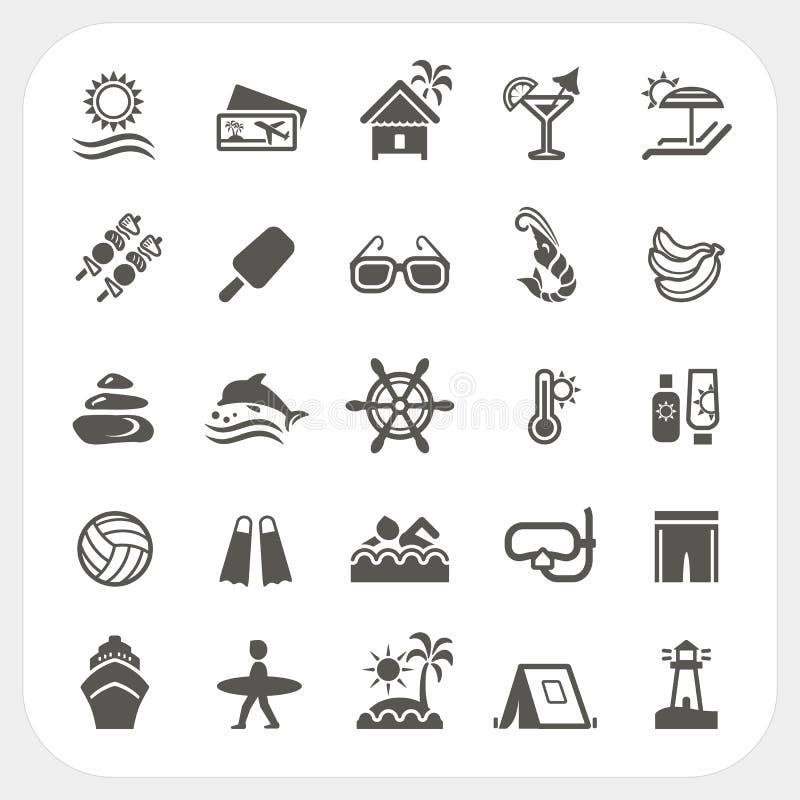 Free Summer Holiday Icons Set Stock Photography - 38887892