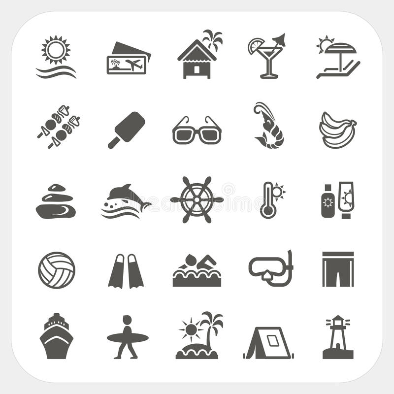 Download Summer holiday icons set stock vector. Illustration of boat - 38887892