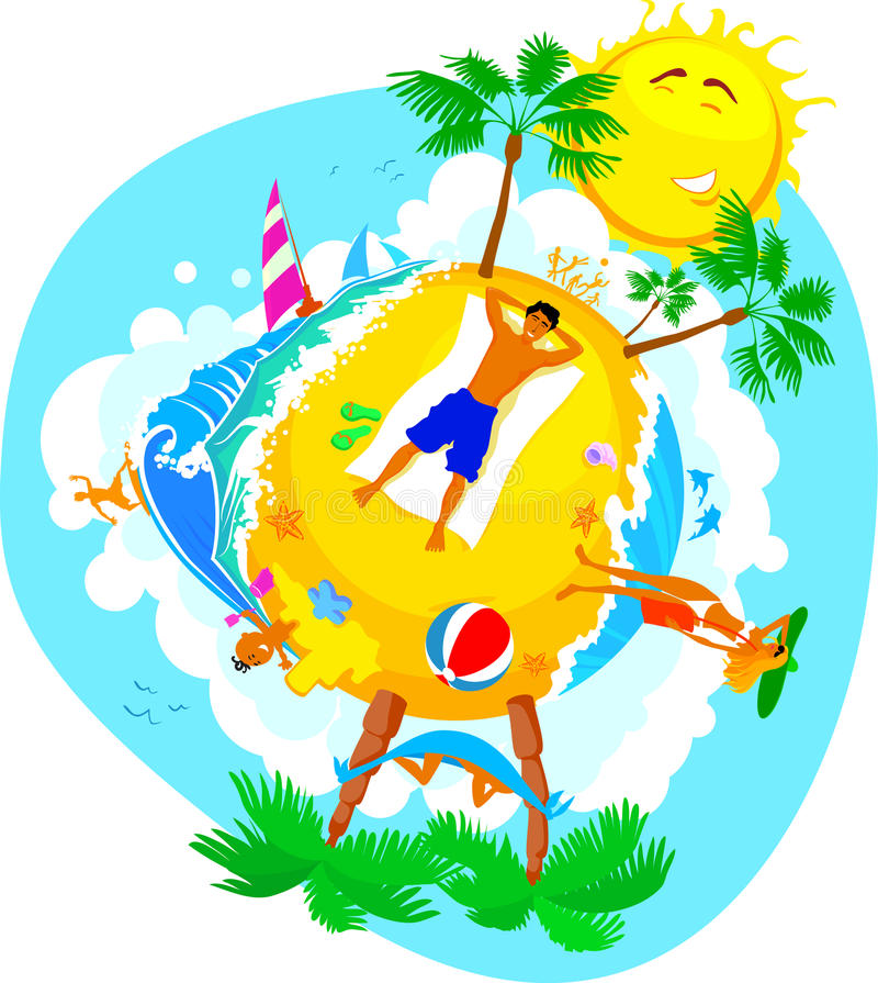 Free Summer Holiday On A Beach Royalty Free Stock Image - 10777366