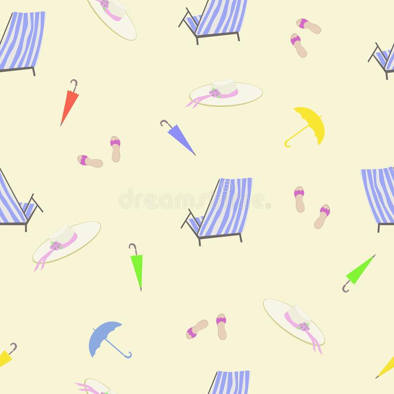 Summer holiday seamless pattern vector illustration