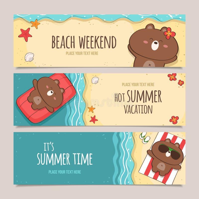 Summer holiday royalty free illustration