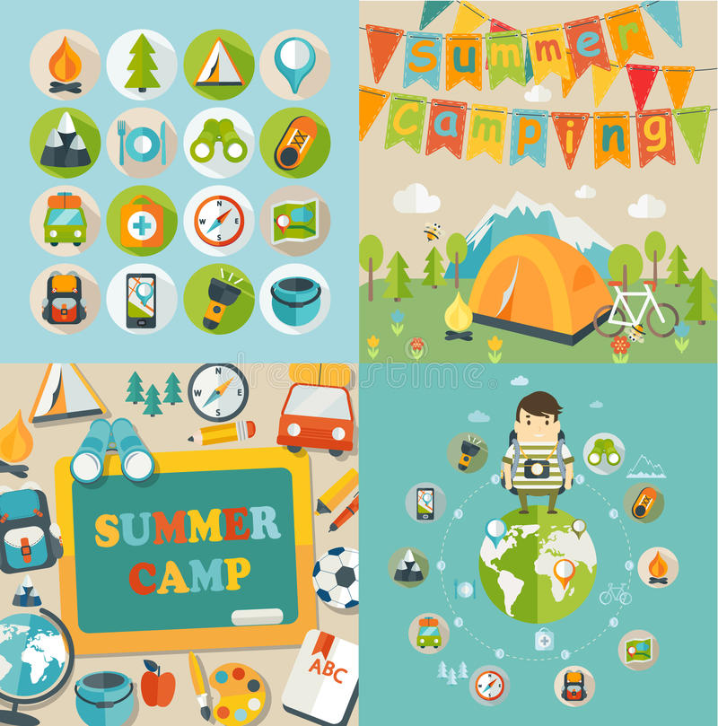 Summer Holiday and Travel themed. royalty free illustration