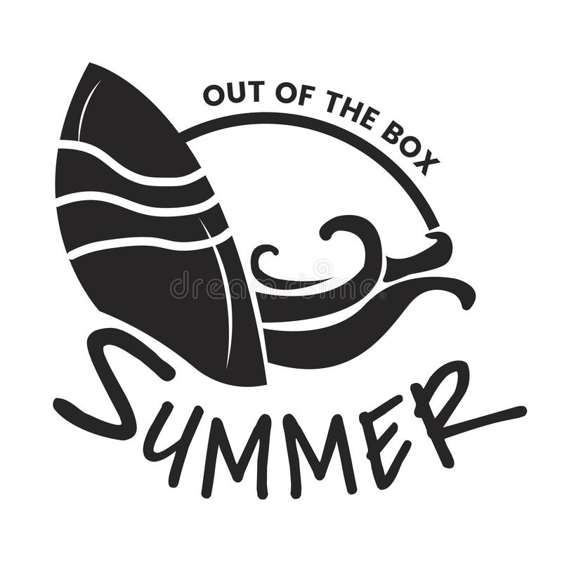 Summer and holiday typography illustration royalty free illustration