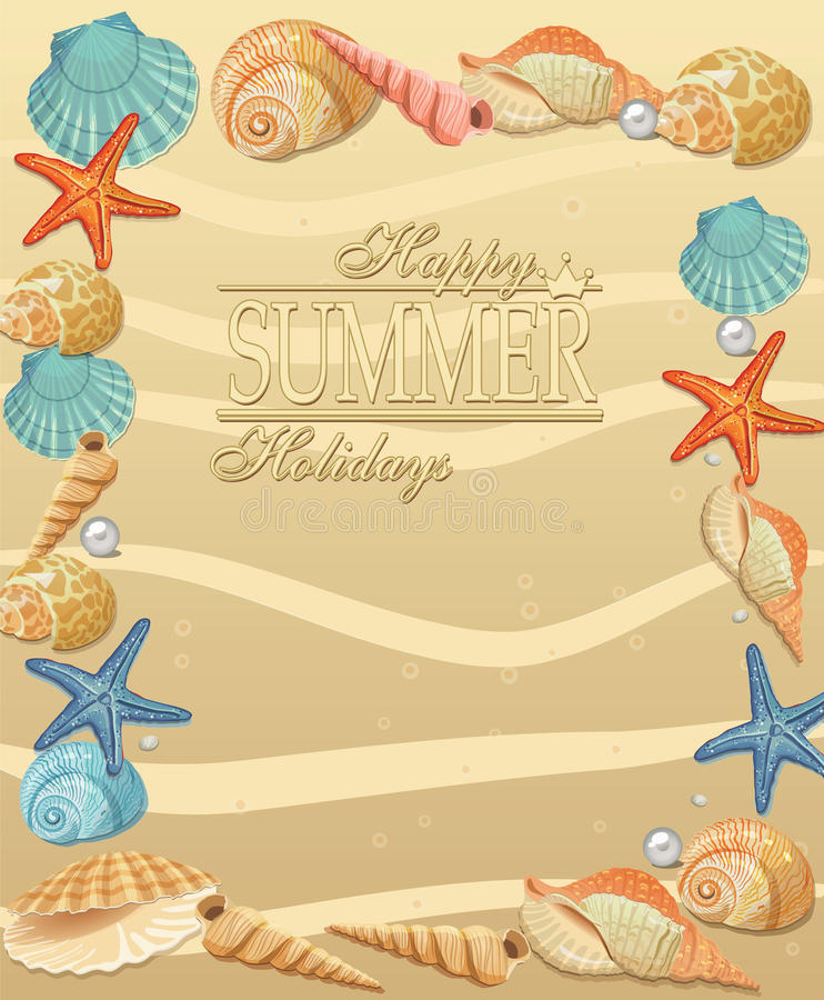 Summer holiday vacation background vector illustration