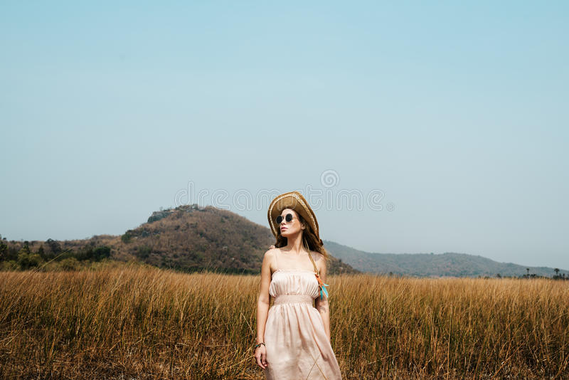 Summer Holiday Vacation Grassland Traveling Relaxation stock photo