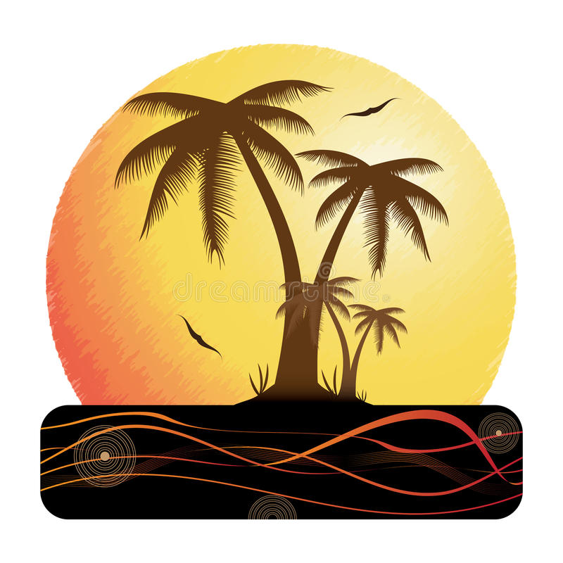 Download Summer Holiday Whit Palm Trees. Stock Vector - Image: 29937170