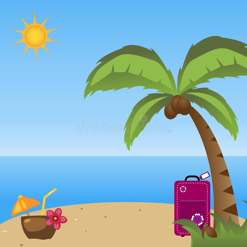 Summer holidays background vector illustration