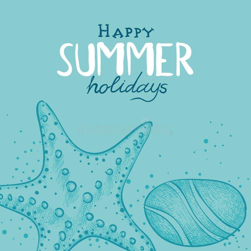 Summer Holidays background royalty free illustration