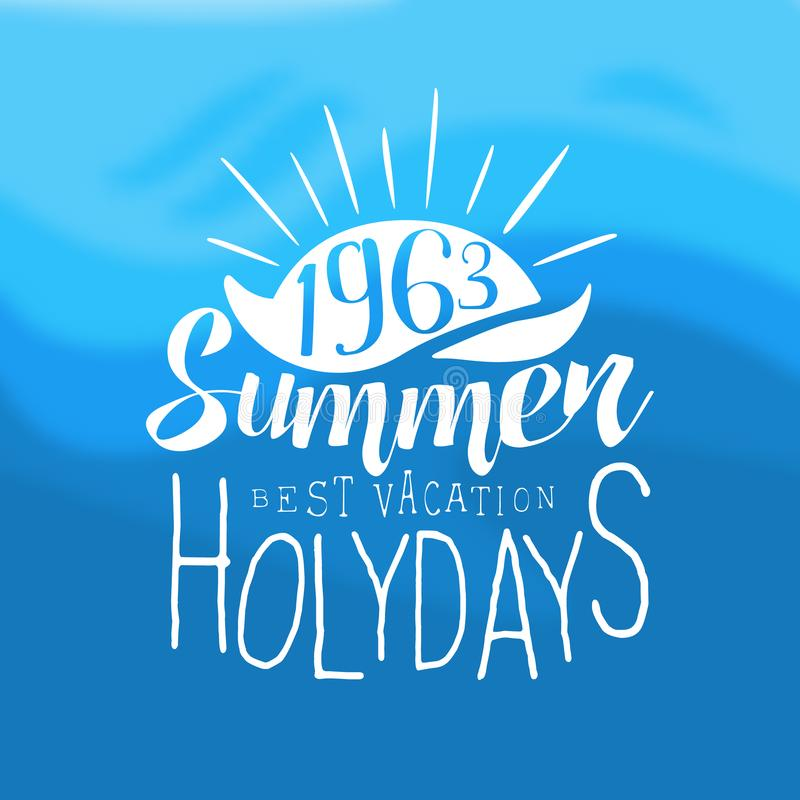 Vintage Summertime Holidays Poster Stock Vector