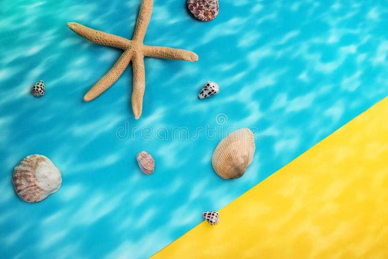 Summer holidays concept. Illustrative picture of coastline at sunny noon royalty free stock images
