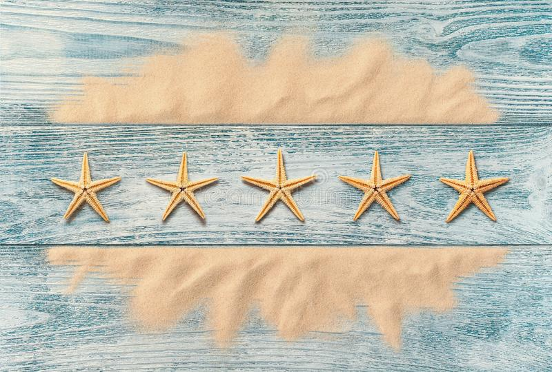 Summer holidays, five star service concept royalty free stock photos