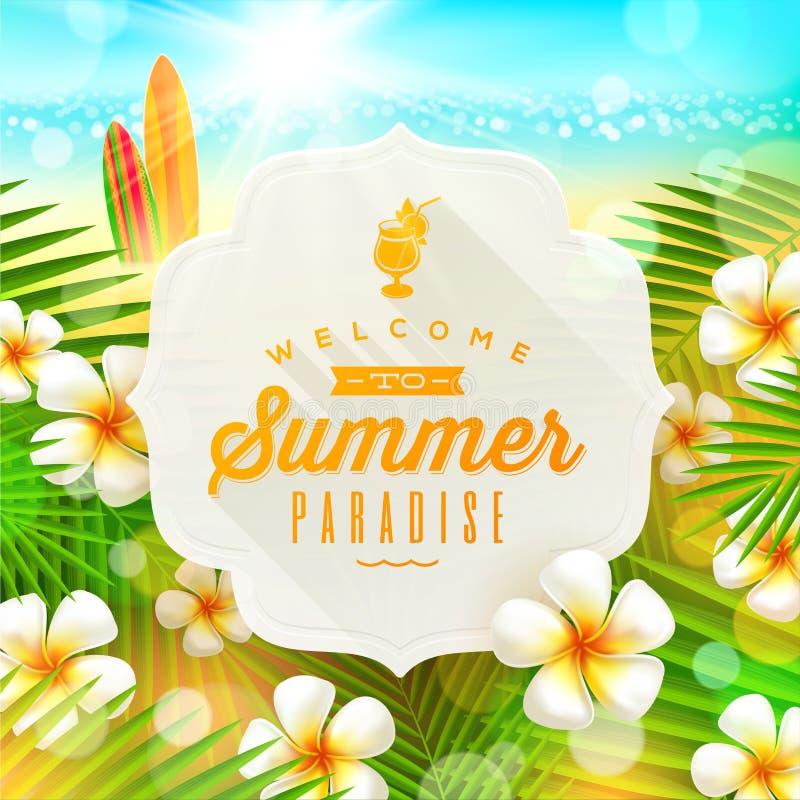 Summer holidays greeting royalty free illustration