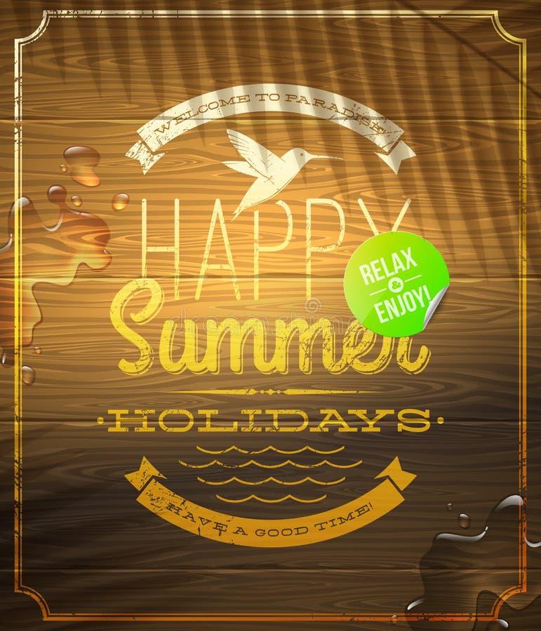 Download Summer Holidays Greeting Emblem And Sticker Stock Vector - Illustration of journey, banner: 30647680