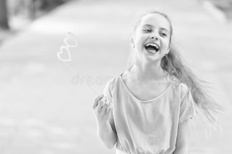 Summer holidays. Happy day. Smile my best accessory. Girl carefree child. Smile suits her. International childrens day stock photography